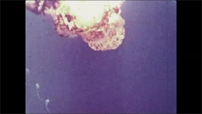 1960s: Rocket explodes and falls to Earth.