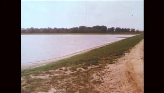 1970s: Oxidation ponds at water treatment facility.