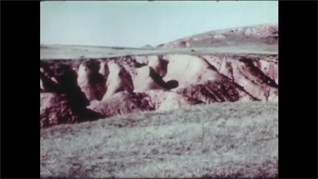 1950s: Dry desert landscape.