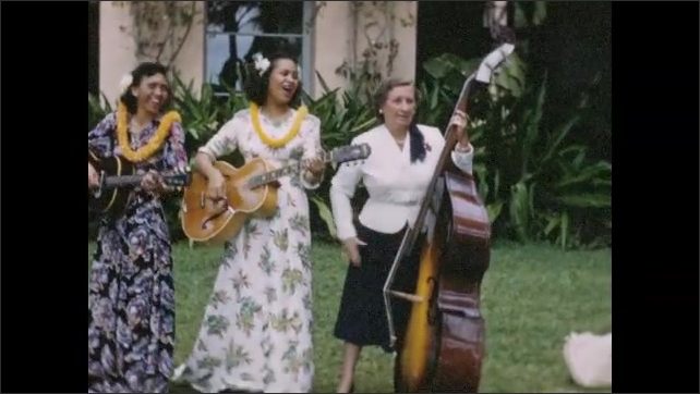 1940s: Female musicians play and sing.