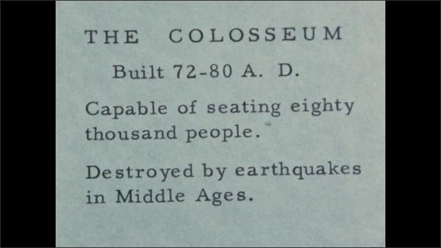 1940s: EUROPE: ITALY: ruins of The Colosseum in Rome. Colloseum walls. Interior of Colloseum
