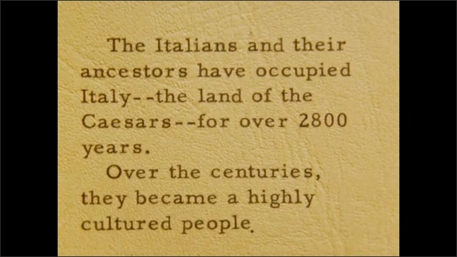 1940s: EUROPE: ITALY: Italy label. Occupation of Italy information. Land of the Caesars.