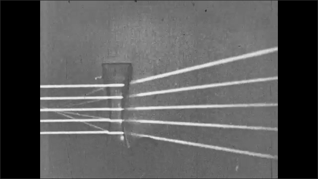1930s: Five beams of light are intruded by glass prism.