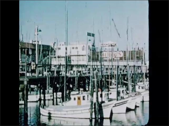 CALIFORNIA 1950s: San Francisco fisherman