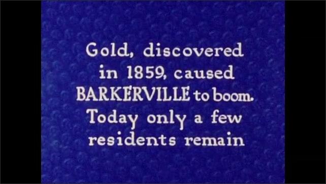 1940s: Intertitle card.