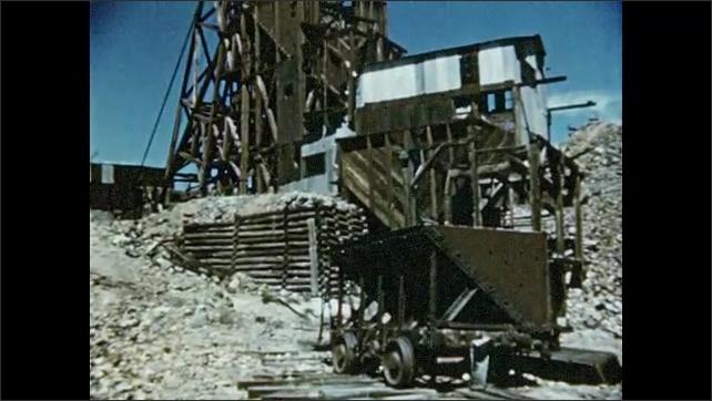 1950s: Buildings in the desert. Old gold mine.