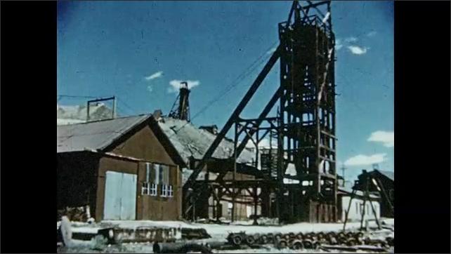 1950s: Wagon wheel. Old gold mine. City Hall signage.