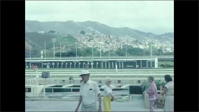 1950s: Ruins. Racetrack. Building overhangs.
