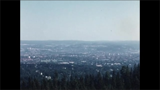 1950s: EUROPE: NORWAY: View across Oslo from ski jump.