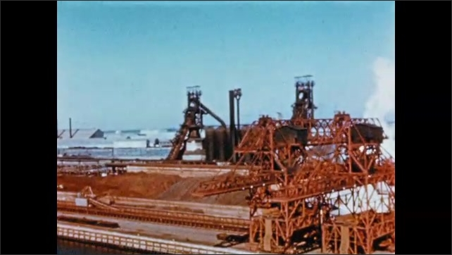 1950s: Processing plant on waterfront.