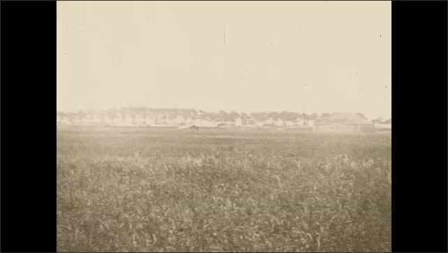1920s:??The Spirit of St. Louis plane is pushed out on to the runway and takes off into the air.??