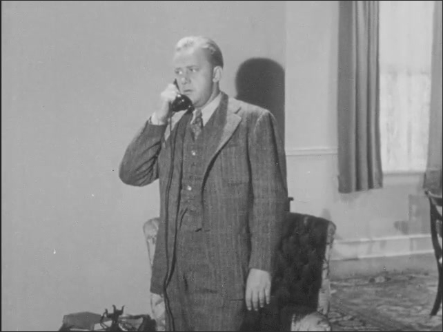 1940s: A father gets up from the breakfast table to answer the telephone. He talks for a while, then hangs up.