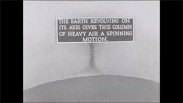 1930s: Animation of column of hot air and heavy air spinning .