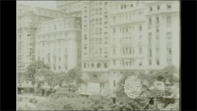 Rio de Janeiro 1930s: buildings in city. Monroe Palace named after James Monroe.