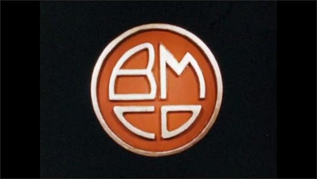 1950s: UNITED STATES: Branding on plastic plate. Logo of plastic producer