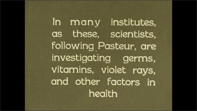 1930s: UNITED STATES: men handle sheep on table. Vet prepares injection for sheep. Man inoculates sheep. Pasteur's investigations