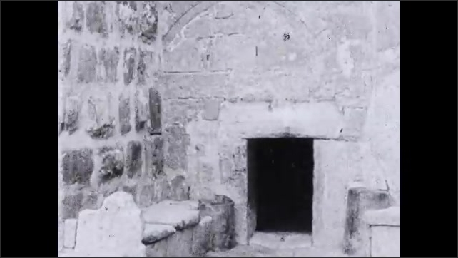 1930s: Doorway entrance to tomb.