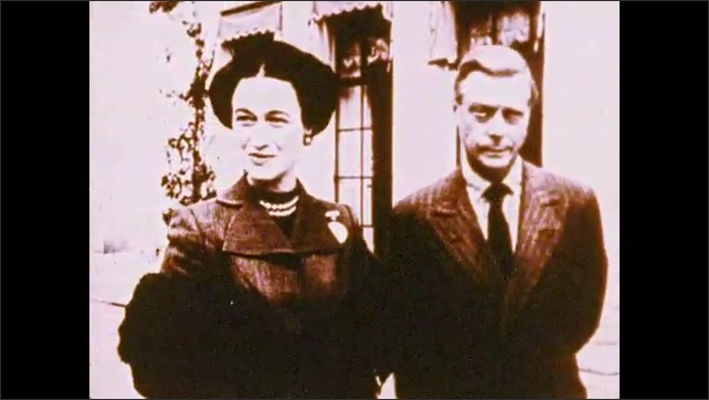 1970s: UNITED STATES: man and lady walk in gardens. Man and lady stand by house. Men in meeting, Lady performs on stage