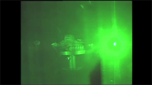 1990s: Hologram of the Apollo Lunar module and Army tank. Holographic photographs from space experiments on crystals and fluids.