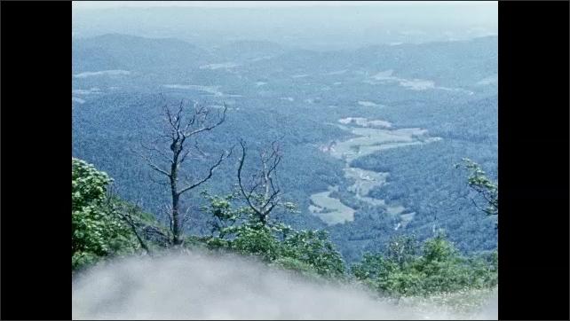 1950s: Mountain, trees, valley. Farmland.