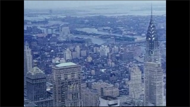 1950s: New York City skyline.