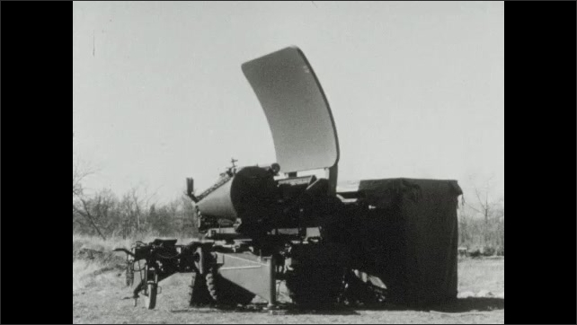 1940s: MPQ4 radar rotates around.