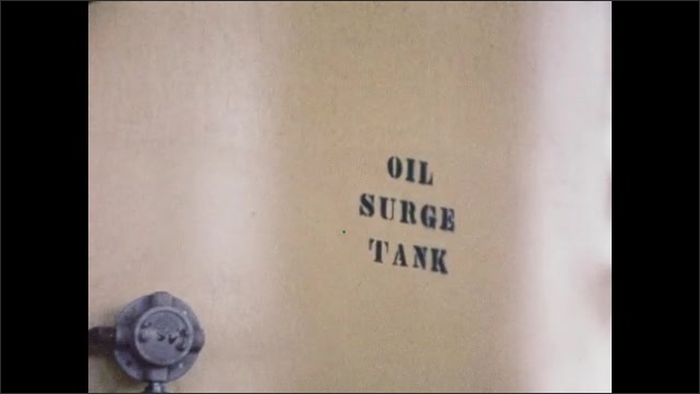 1960s: UNITED STATES: dual completion of oil and gas from single well. Oil surge tank. Data and seismic research on rig