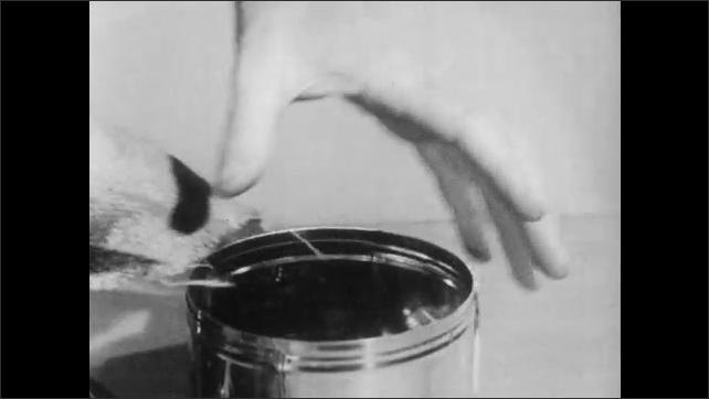 1950s: Small pieces of coal are placed in a metal pot and placed on a burner.