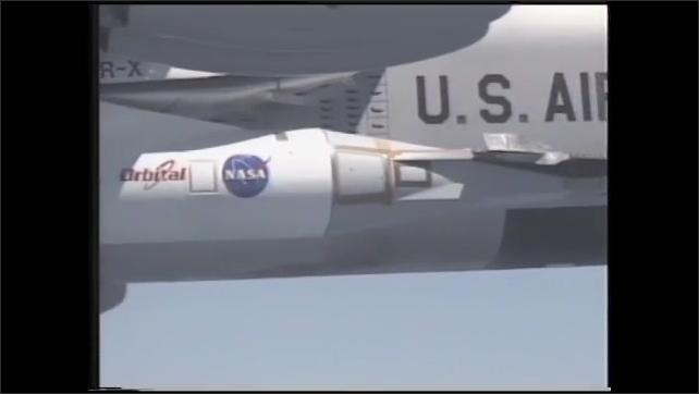 1990s: UNITED STATES: Hyper-X plane in flight. Plane in flight.