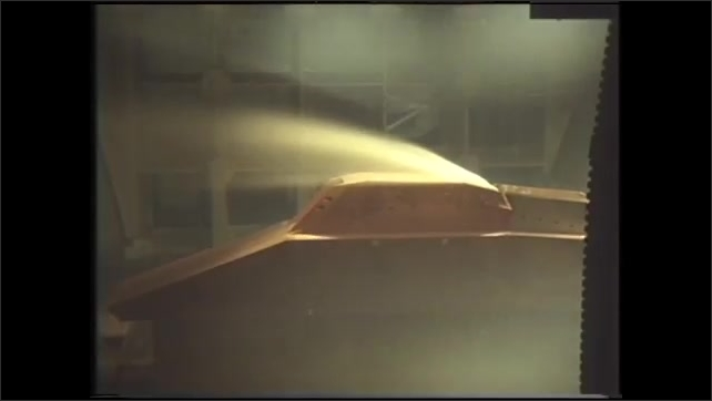 1990s: UNITED STATES: wind tunnel testing of aircraft, buildings, golf balls, cars, and submarines.