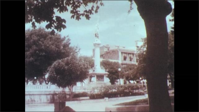 Puerto Rico 1960s: Statue of Christopher Columbus in San Juan.