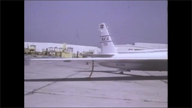 1970s: UNITED STATES: NASA survey plane at AMES, California. Plane takes off from ground