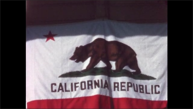 1960s: State flag of California.