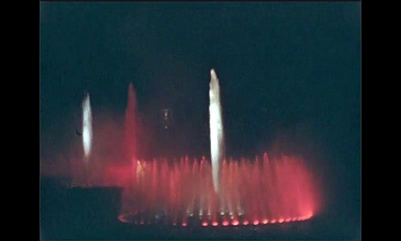 1930s: UNITED STATES: firework show by colourful lit fountains and spray.