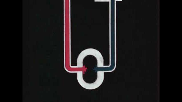 1940s: UNITED STATES: animation of hydraulic pump system. Power transmitting system