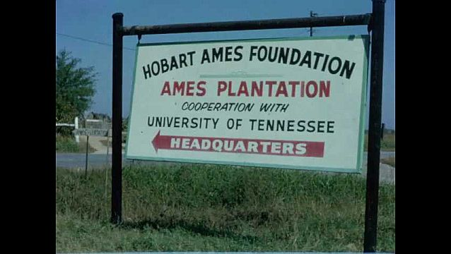 1960s: UNITED STATES: sign for Hobart Ames Foundation headquarters.
