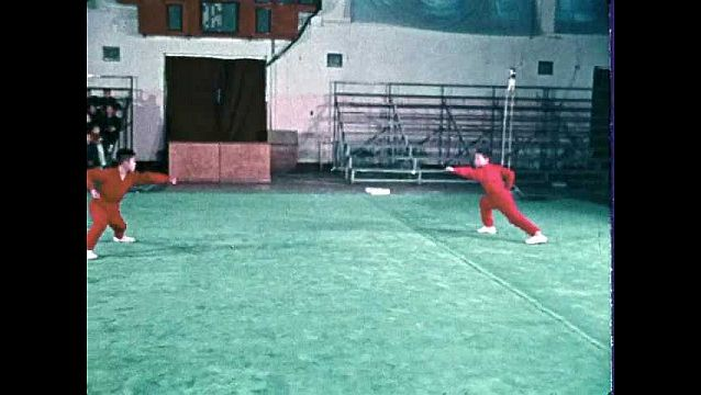 1960s: Boys practice choreographed fight sequence.