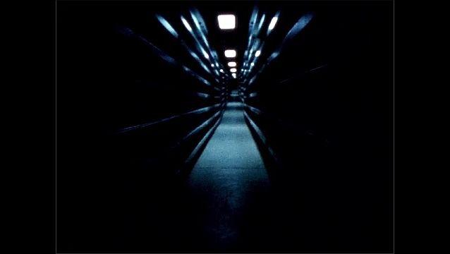 1960s: Dark hallway.
