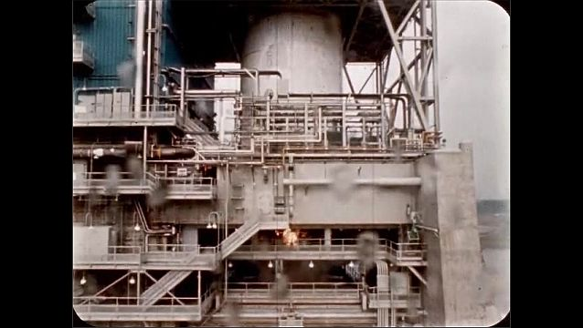 1960s: UNITED STATES: April 1966 test facility research on fire reduction