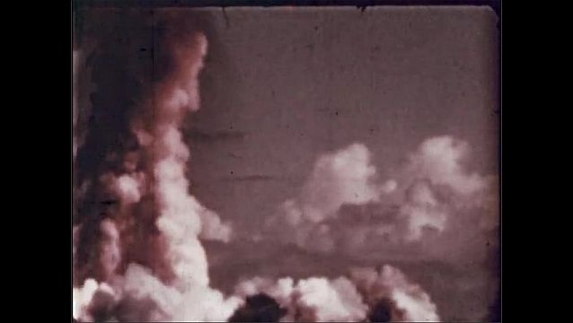 1940s: UNITED STATES: atomic explosion and cloud column.