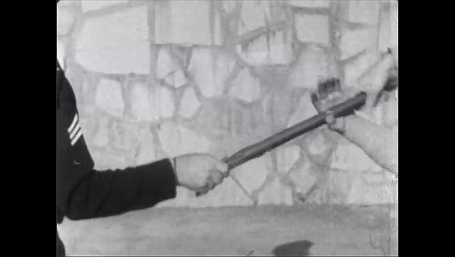 1960s: Volunteer grabs officer's baton. Volunteer pulls baton and officer off balance.