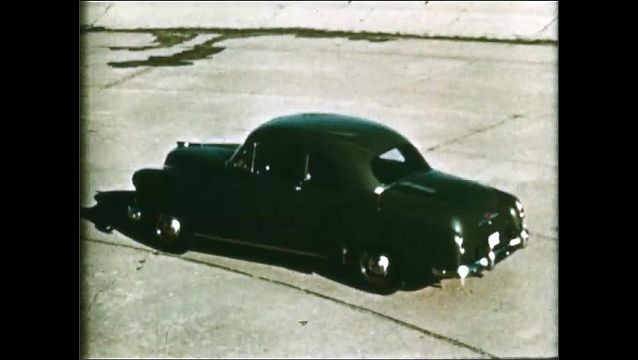 1940s: High angle shots of cars.