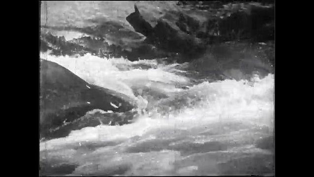 1920s: River.  Waterfall.  Lake.  Mountains.