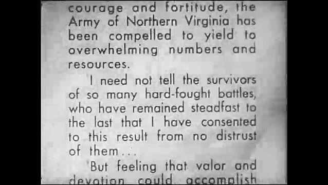 """1920s: Text.  Quote from """"HEADQUARTERS, ARMY OF NORTHERN VIRGINIA."""""""