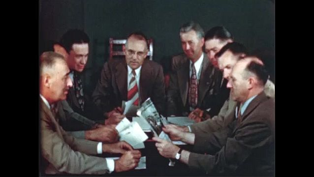 1940s: UNITED STATES: young people sit together in meeting. Men sit in meeting. The Kids get a night club