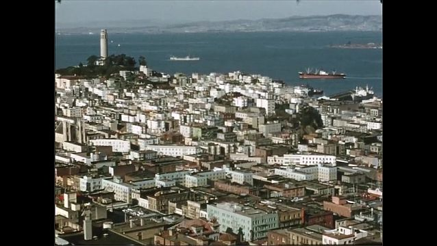 1950s: View of San Francisco and body of water.