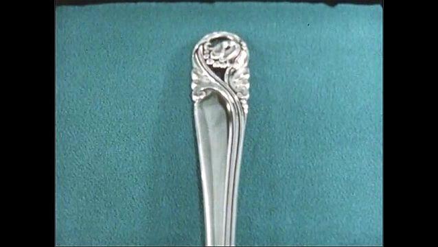 1950s: Flowers.  Silverware.  Cloth.