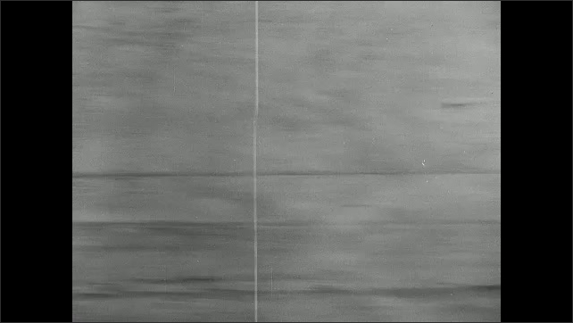 1940s: bombers flying in formation, bomber using parachutes to slow landing