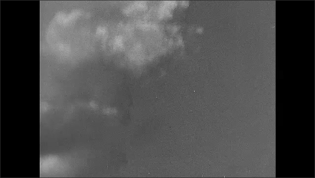 1940s: Mushroom cloud.
