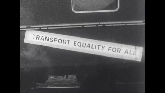 1960s: Railroad slogans on the side of railcars.